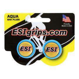 Заглушки руля ESI Bar Plug Aqua, голубые