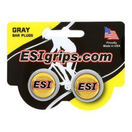 Заглушки руля ESI Bar Plug Gray, серый