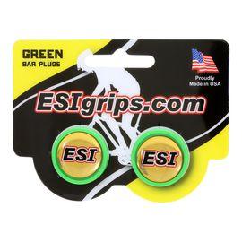 Заглушки руля ESI Bar Plug Green, зеленый